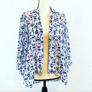 G by Guess Blue and White Kimono Top Size Small